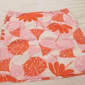Umbrella Patterned Skirt Lilly Pulitzer